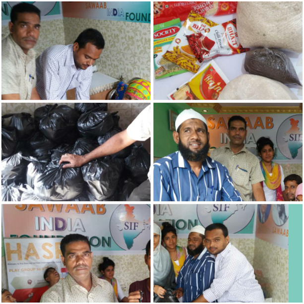Mumbra- SIF extends helping hand to the needy