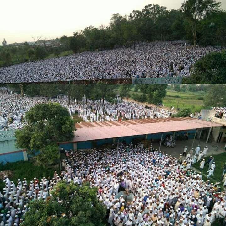 परनम आंखों के साथ शेख अल हदीस मौलाना मोहम्मद यूनुस सुपुर्दे खाक, अनुमान के अनुसार दस लाख लोगों ने भाग लिया अंतिम संस्कार में