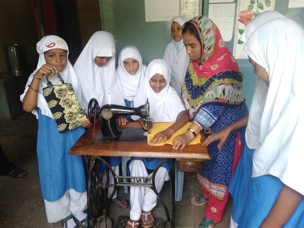 A Govt. Run Primary school teachers step forward to give vocational training to their students