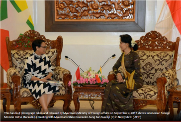 Indonesia foreign minister to meet Suu Kyi today