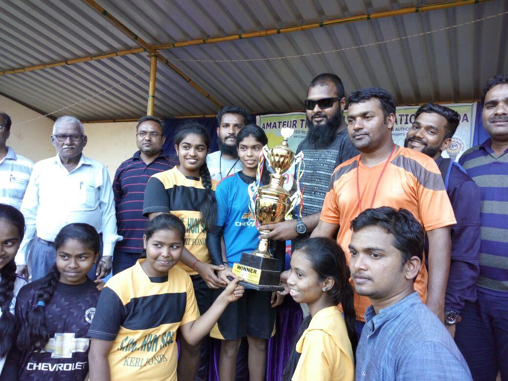 Goa-State level Throw ball tournament organised