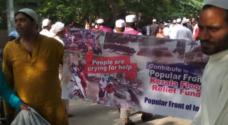 पॉपुलर फ्रंट ऑफ इंडिया ने केरल बाढ़ पीड़ितो के लिए पूरे भारत सहित राजधानी दिल्ली मे भी धन राशि एकत्रित की