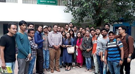A great success to JMI's Hindi department, 23 students from TV journalism course got placement in media channels