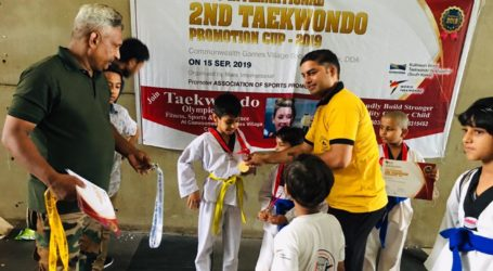 Mustafa Athar Clinches Double Gold in Taekwondo Championships