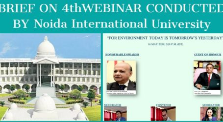 BRIEF ON 4thWEBINAR CONDUCTED BY Noida International University